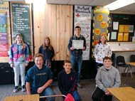 Mr Gossack and Class Members with CapEd Grant Certificate
