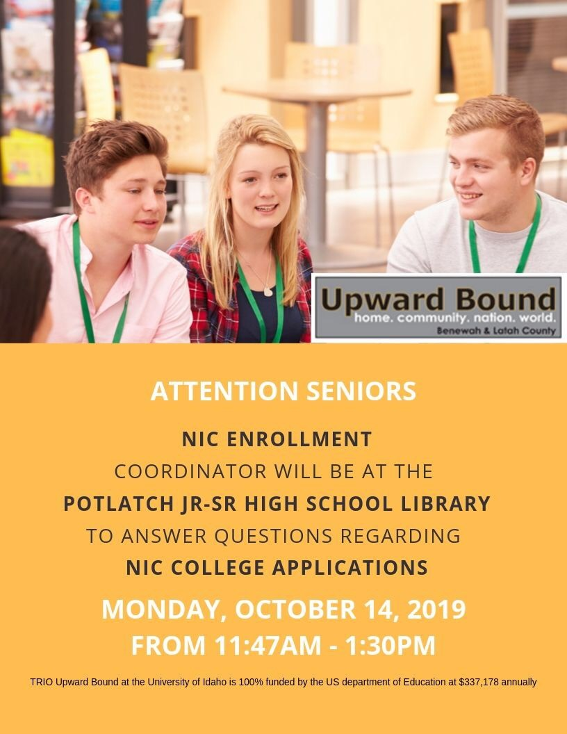 NIC Enrollment Coordinator Visit- October 14th